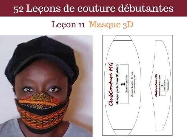 tuto masque 3D covid 19