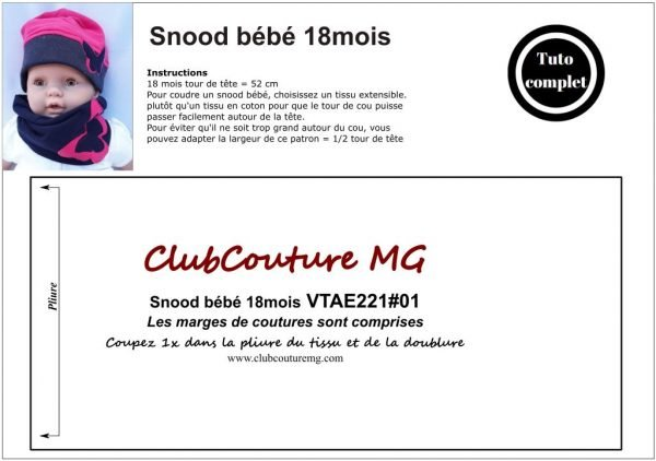tuto snood, Tuto snood sans couture apparente